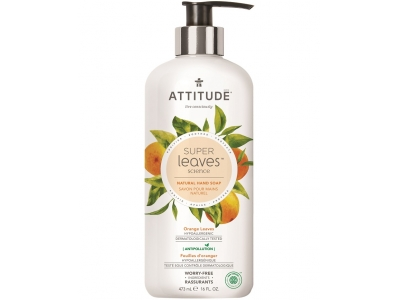 ATTITUDE Přírodní mýdlo na ruce Super leaves - pomerančové listy 473 ml