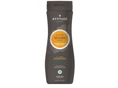 ATTITUDE Přírodní pánský šampón & tělové mýdlo Super leaves - normální vlasy 473 ml