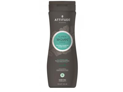 ATTITUDE Přírodní pánský šampón & tělové mýdlo Super leaves - proti lupům 473 ml