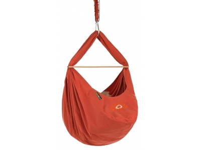 Babyvak Hacka Plus - závěsná textilní kolébka - oranžová
