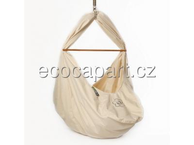 Babyvak Hacka Plus - závěsná textilní kolébka - přírodní