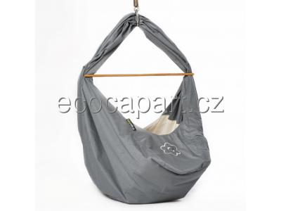 Babyvak Hacka Plus - závěsná textilní kolébka - šedá