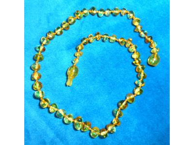 Jantarové korálky proti bolesti - barokní citronové (zasouvací uzávěr)