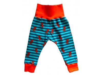 Mama Rosa Dětské kalhoty - tygříci, oranžové lemy