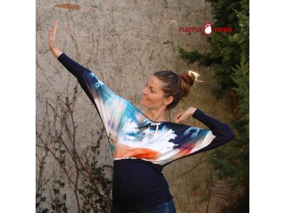 Mama Rosa Těhotenská halenka RONJA - palmy