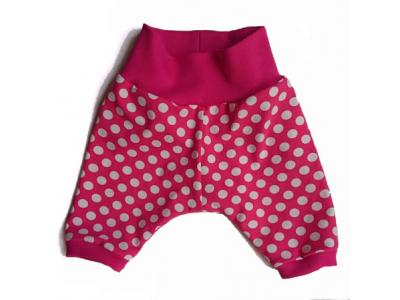 Mama Rosa Dětské kraťásky - růžové s puntíky