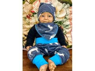 Mama Rosa Dětské kalhoty z BIO bavlny - Zimní sny