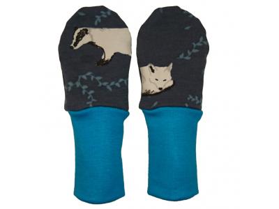 Mama Rosa Kojenecké rukavičky bez palce MERINO - Zimní sny