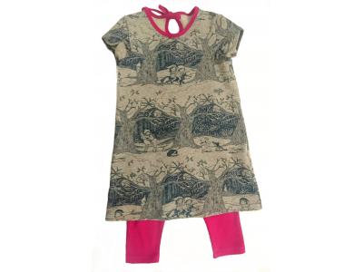 Mama Rosa Dětské šaty s legínami - čarovný les