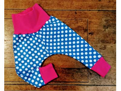 Mama Rosa Dětské kalhoty - Polka blue