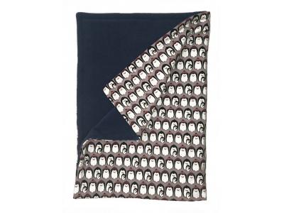 Mama Rosa Dětská deka 70 x 100 cm - Tučňáci lila