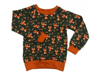 Mama Rosa Dětská mikina/triko z BIO bavlny - Lišky v listí
