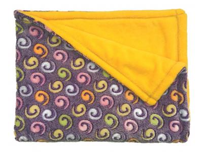 Mama Rosa Dětská deka mazlivá 75x100 cm - Žlutofialová