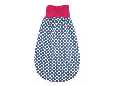 Mama Rosa Spací vak MERINO - modrý s puntíky