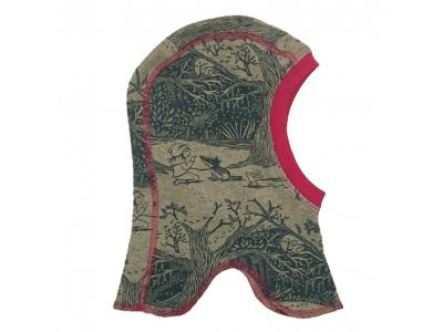 Mama Rosa Dětská čepice kukla z BIO bavlny - Čarovný les
