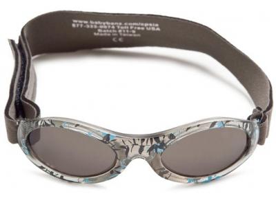 Baby Banz sluneční brýle 0-2 roky - šedé s květy
