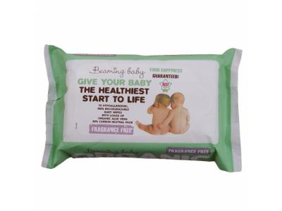Beaming Baby Organické vlhčené ubrousky (72 ks) - bez vůně