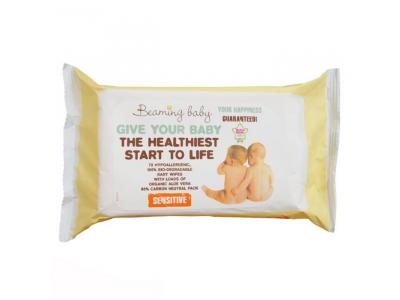 Beaming Baby Organické vlhčené ubrousky (72 ks) - s vůní