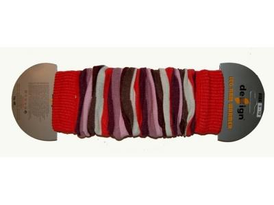 Design Socks Návleky na nožky - růžovočervené pruhy