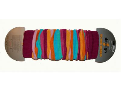Design Socks Návleky na nožky - žlutofialové pruhy