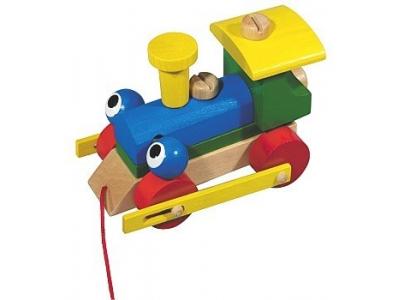Detoa Tahací hračka Mrkací mašinka
