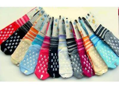 Diba Protiskluzové dětské ponožky pruhované (froté) - vel. 1 (6-12m)