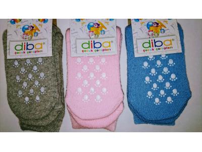 Diba Protiskluzové dětské ponožky (froté) - vel. 1 (6-12m)