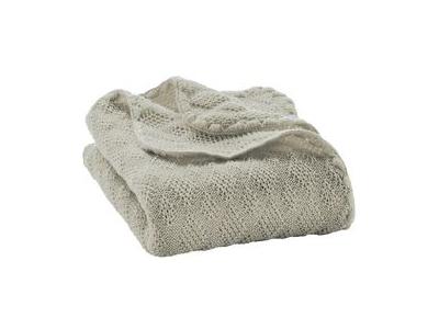 Disana Pletená deka z merino vlny - šedá