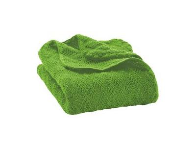 Disana Pletená deka z merino vlny - zelená