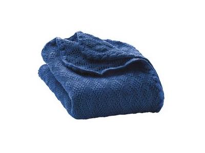 Disana Pletená deka z merino vlny - marine
