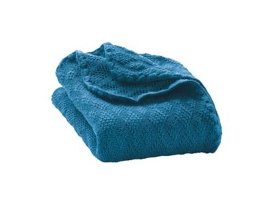 Disana Pletená deka z merino vlny - modrá