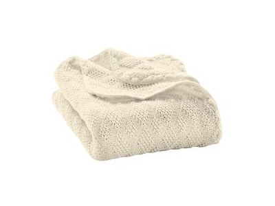 Disana Pletená deka z merino vlny - přírodní