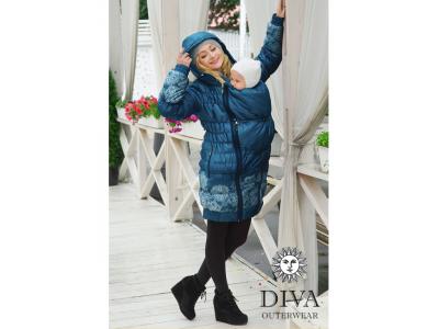 Diva Milano zimní nosící kabát (high warm) 3v1 - Azzurro