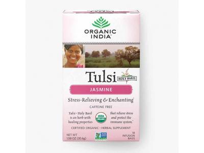 Tulsi jasmín BIO - ajurvédský čaj, 18 sáčků