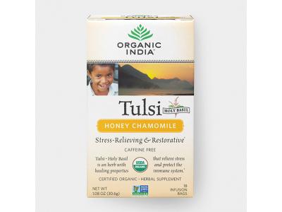 Tulsi med a heřmánek BIO - ajurvédský čaj, 18 sáčků