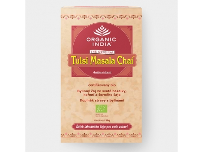Tulsi Masala BIO - ajurvédský čaj, 25 sáčků