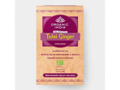 Tulsi Ginger BIO - ajurvédský čaj, 25 sáčků