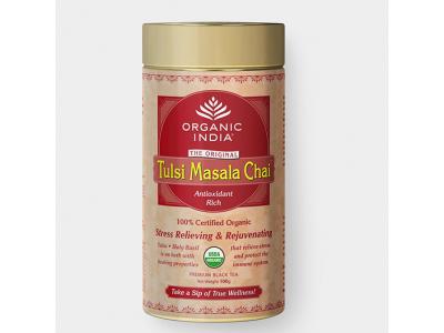 Tulsi Masala BIO - ajurvédský čaj, plechová dóza 100g