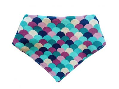 Eco Capart Tenký letní šátek slintáček - modrofialové šupinky