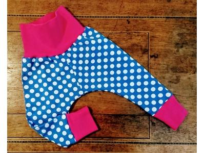 Eco Capart Dětské kalhoty - Polka blue