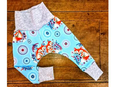 Eco Capart Dětské kalhoty - Máma liška modrá