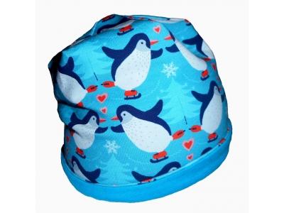 Eco Capart Dětská čepice MERINO - tučňáci