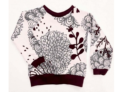 Eco Capart Dětská mikina z BIO bavlny - Chrysanthema