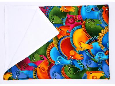Eco Capart Přebalovací podložka PUL 50 x 70 cm -  Duhoví koně