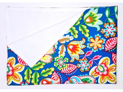 Eco Capart Přebalovací podložka PUL 50 x 70 cm - Modré kvítky