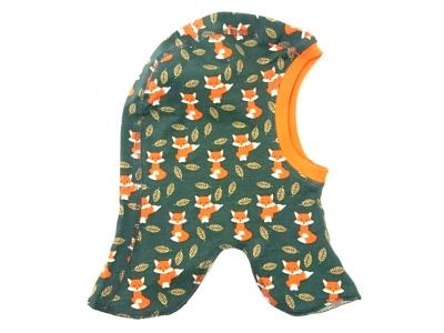 Eco Capart Dětská čepice kukla z BIO bavlny - Lišky v listí
