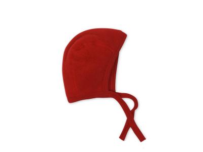 Engel Čepička z teplého vlněného flísu - červená