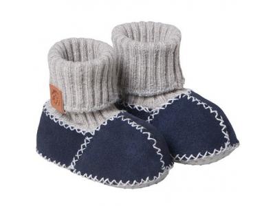 Fellhof Teplé botičky Balu z ovčí kůže - modré, vel. 20