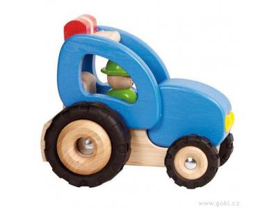 Goki Dřevěný traktor - hračka pro kluky