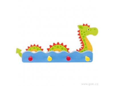 Goki Dětský věšák ze dřeva – vodní příšerka